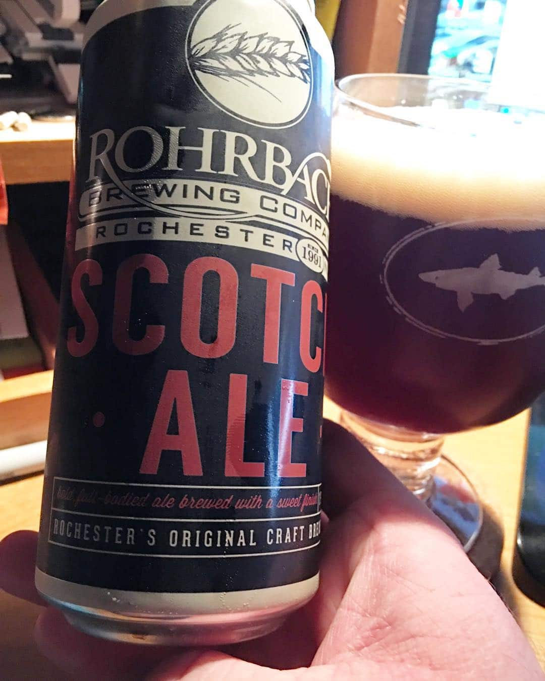 @rohrbach_brewing Scotch Ale. I always saw this in the store and never picked it up. It had a nice maltiness to it. Definitely a scotch ale, this baby warmed me up. I'm really glad these guys started canning because I can now try almost all their normal brews.
