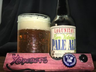 Born Yesterday Fresh Hop Pale Ale (2015 OneHitter series) by Laguintas Brewing