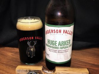 Huge Arker Bourbon Barrel Imperial Stout by Anderson Valley Brewing Co.