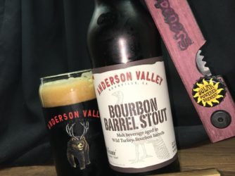 It's a @YOpeners party with my Bourbon Barrel Stout by @andersonvalleybrewing