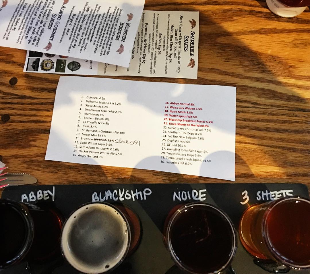 Went to the new @millcreekbrewco today. Got a flight of their beers. Lots of Belgian options but the one that took the prize was the Blackship Breakfast Porter.