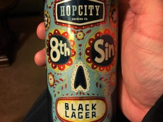 Enjoying my first beer from my Canada haul @hopcitybrewing 8th Sin Black Lager
