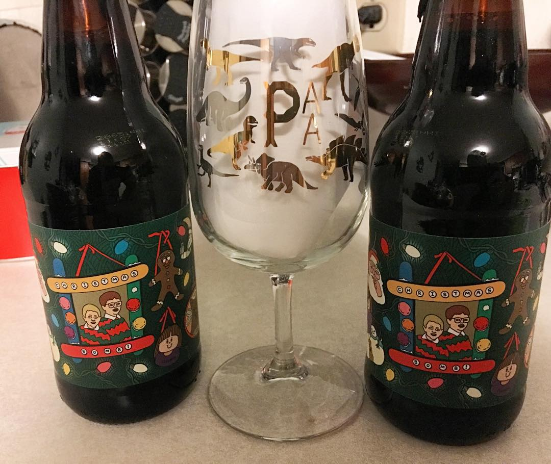 I'm definitely enjoying one of these tomorrow. Thanks @yoshi_optimator for all that you do. #datglass #prairiesles #christmasbomb #porchbomb