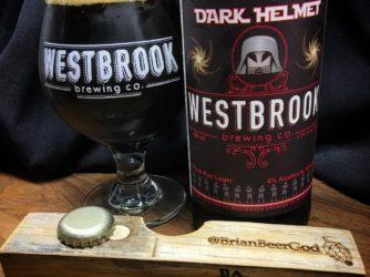 @westbrookbrewingco Dark Helmet Black Rye Lager 6% ABV in #properglassware (finally!)
