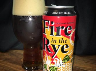 @doubletroublebrewing Fire in the Rye – I love when my beer smells like the inside of s Brewery. Makes me smile!  Really tasty beer from Canada