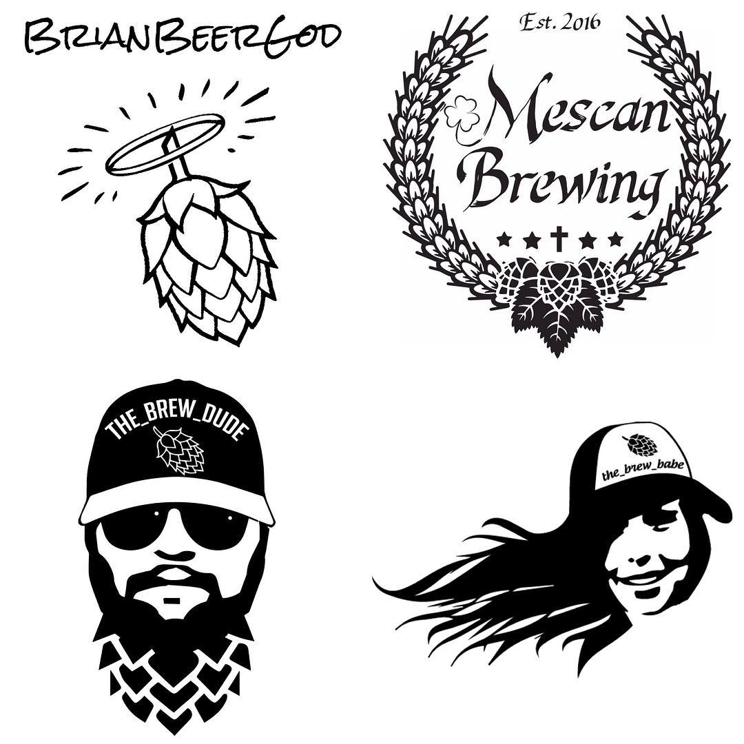 Interested in a logo for your home brew or beer page? The bottom two are from pictures they have to me (edited slightly of course). I even do companies and other things. Send me a DM and we'll chat numbers! These are down of my recent happy customers (and one of my own)
