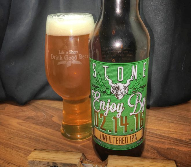 @stonebrewingco Enjoy By 02.14.16 Unfiltered IPA