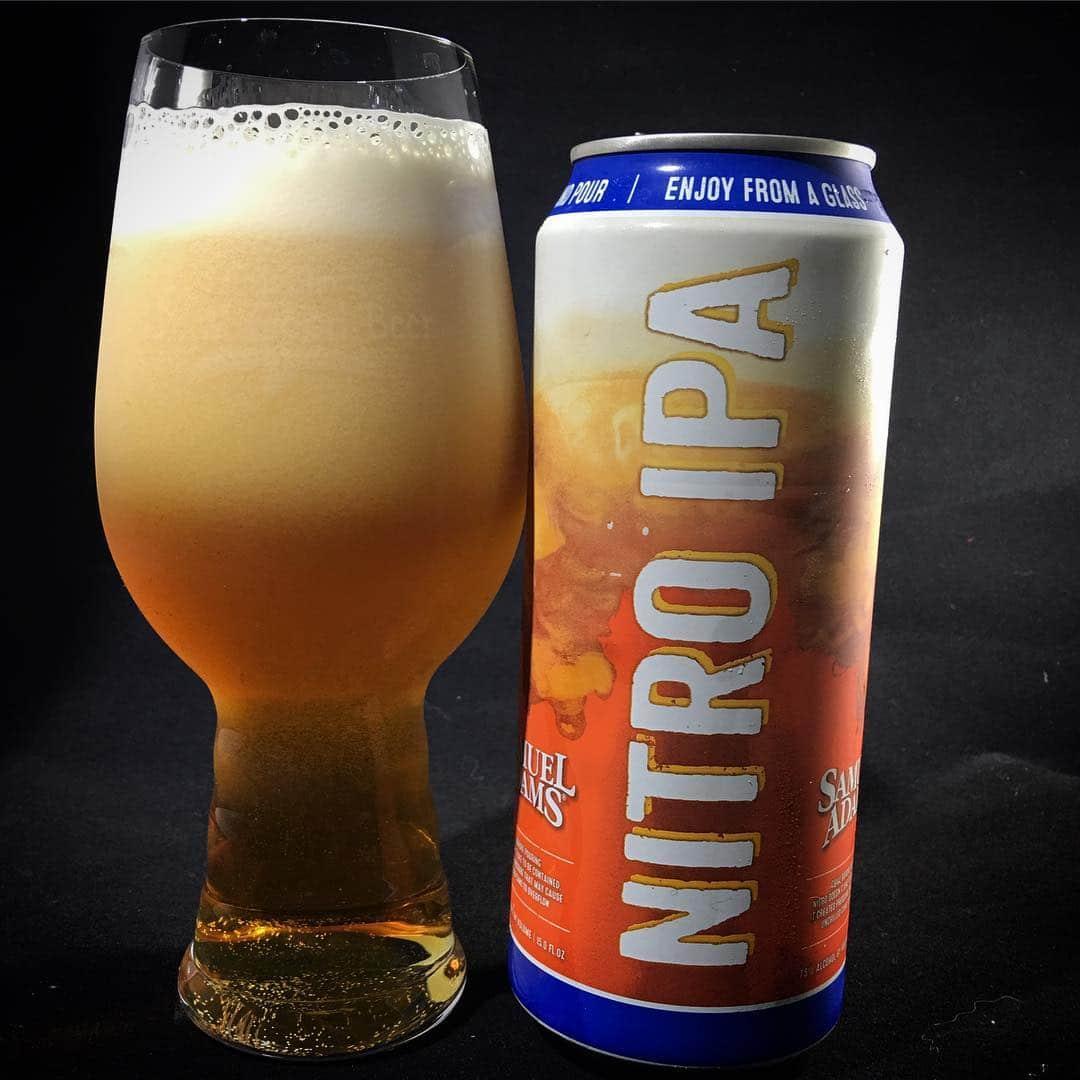 @samueladamsbeer Nitro IPA - hoppier than I expected. Still smooth though.
