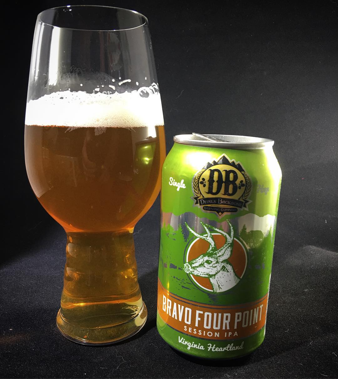 @devilsbackbonebrewingcompany Bravo Four Point Session IPA - interesting flavor in this. Not sure how I feel.