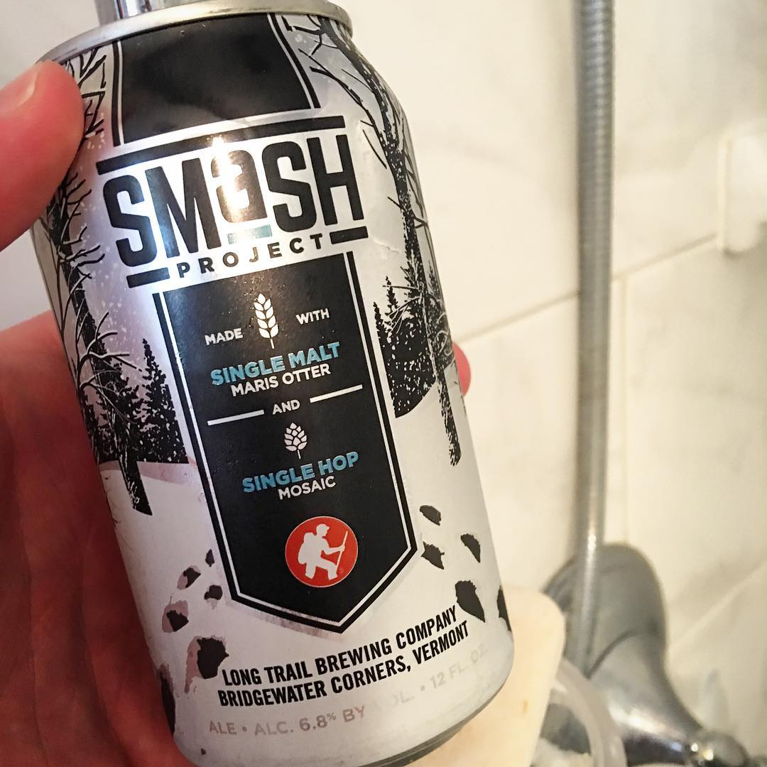 #ShowerBeer @longtrailbeer SMaSH Project 2 - Marris Otter Malt and Mosaic Hop