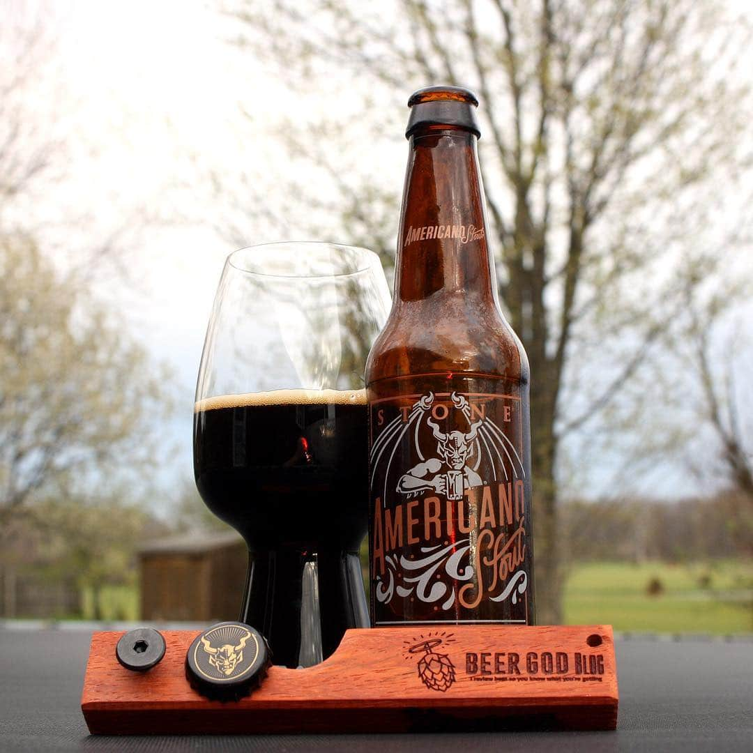 @stonebrewingco Americano Stout - absolutely delicious. Really nice coffee and chocolate flavors in this.
