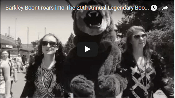 Video: Barkley Boont roars into The 20th Annual Legendary Boonville Beer Fest!
