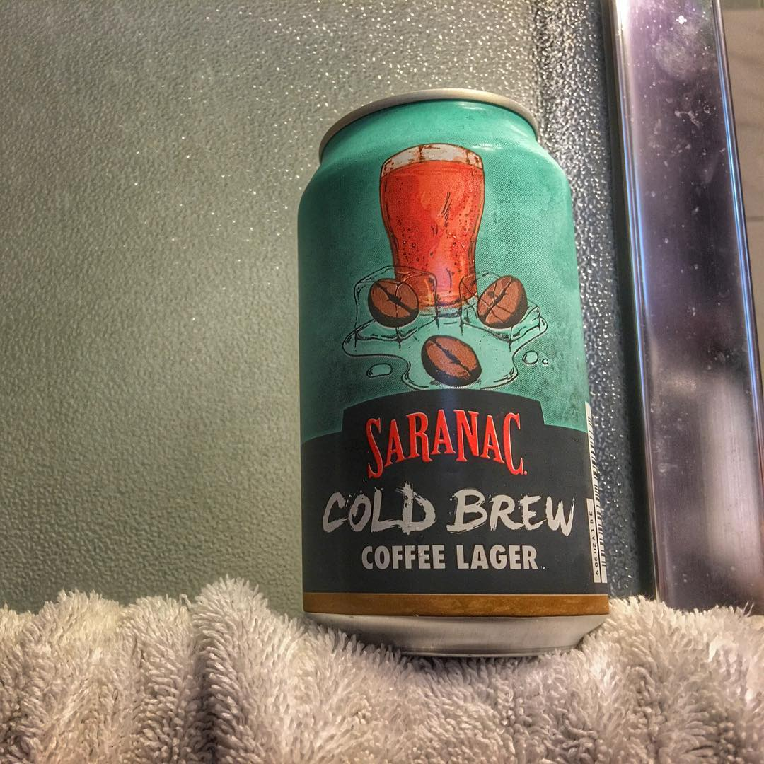 Start your weekend off right with a #showerbeer - this one is @saranacbrewery Cold Brew Coffee Lager - actually really tasty, especially if you like coffee. Lots of coffee flavor
