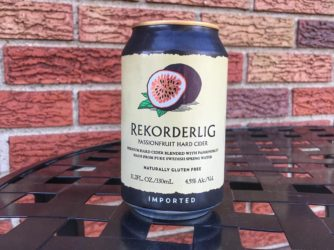 Review: Passionfruit Hard Cider by Rekorderlig Cider
