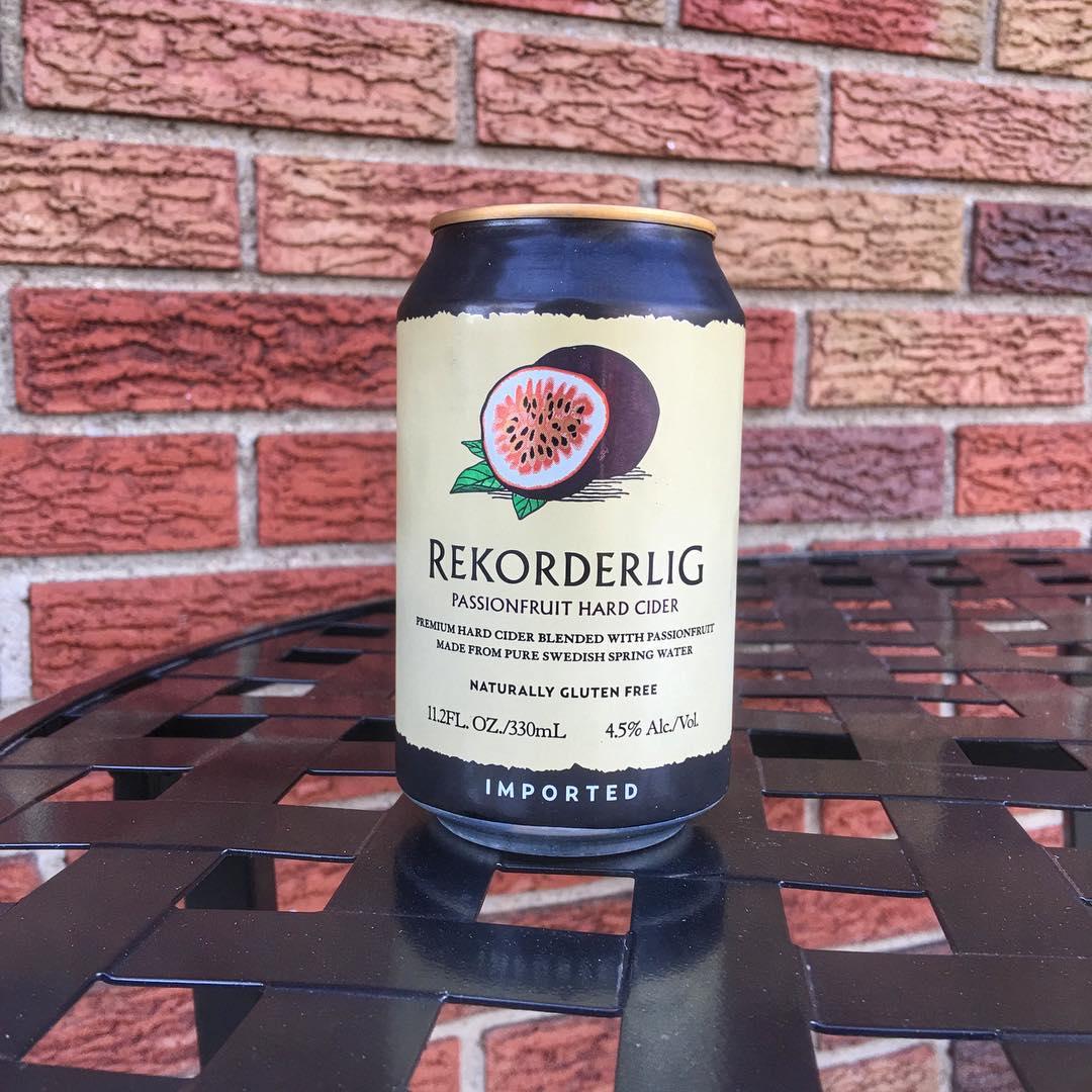 @rekorderligcider Passionfruit Hard Cider - kinda dry with a really nice amount of fruit.