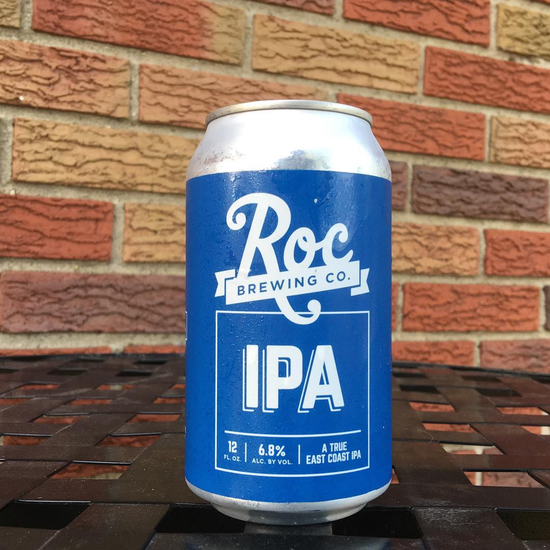 @rocbrewingco IPA - pretty tasty beer. Tasted good while outside grilling.