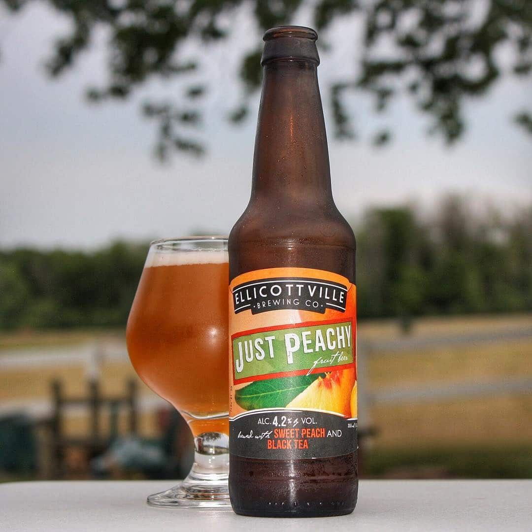 Nothing like a refreshing Just Peachy by @ellicottvillebrewing on this hot evening.