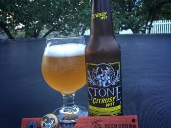 Review: Citrusy Wit by Stone Brewing Co