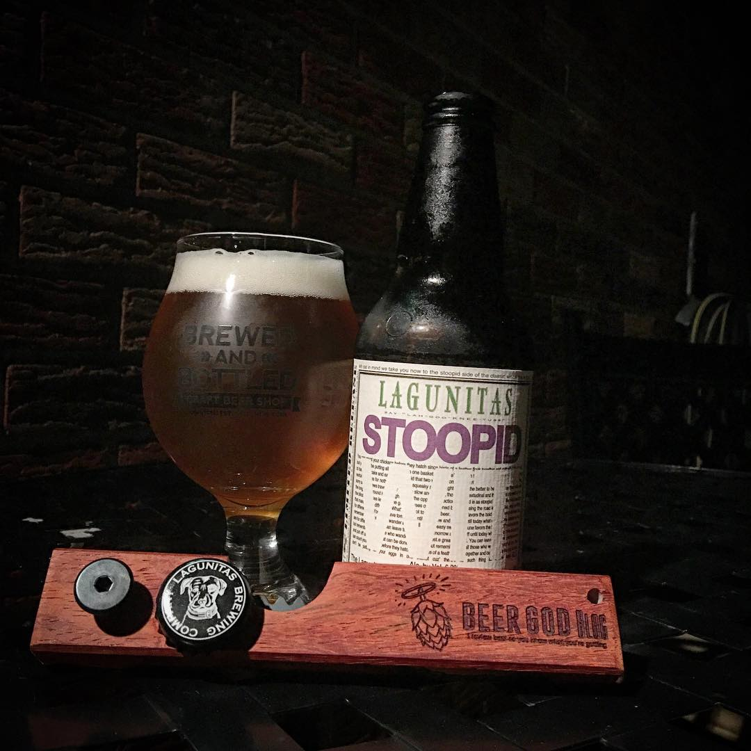 @lagunitasbeer Stoopid Wit - interesting flavor. Nice and tasty though.