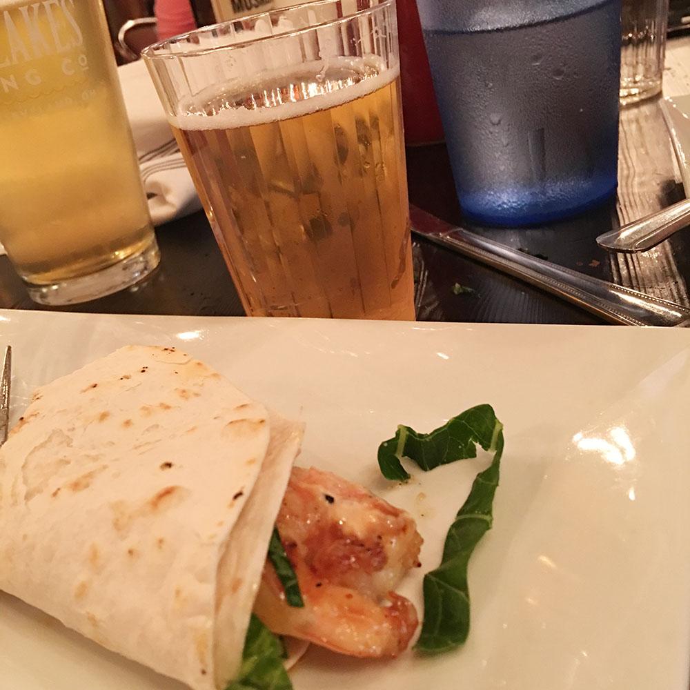 Course 3 - Shrimp Tacos