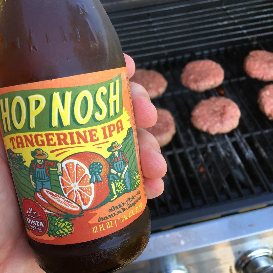 @uintabrewing Hop Nosh Tangerine IPA - not too much tangerine flavor. Still easy drinking for 7%
