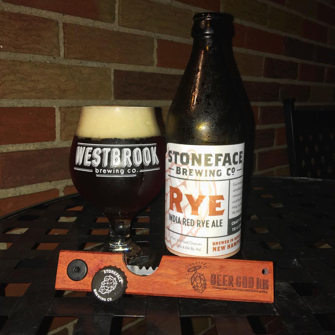 @stonefacebrewing Rye India Red Rye Ale