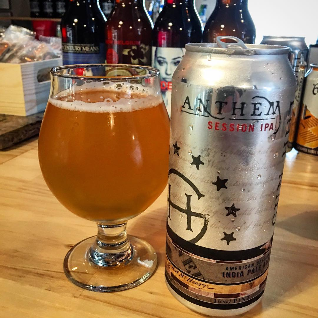 @gunhillbrewery Anthem Session IPA - really nice flavor. I will definitely be checking this beer out again.