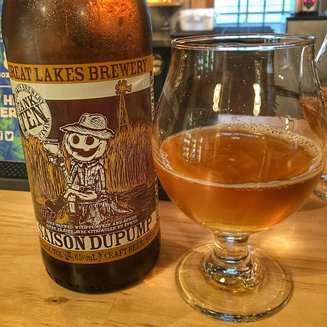 "@greatlakesbeer Saison Dupump - this was absolutely excellent. Light with a lot of pumpkin spice without being overly ""spiced"""