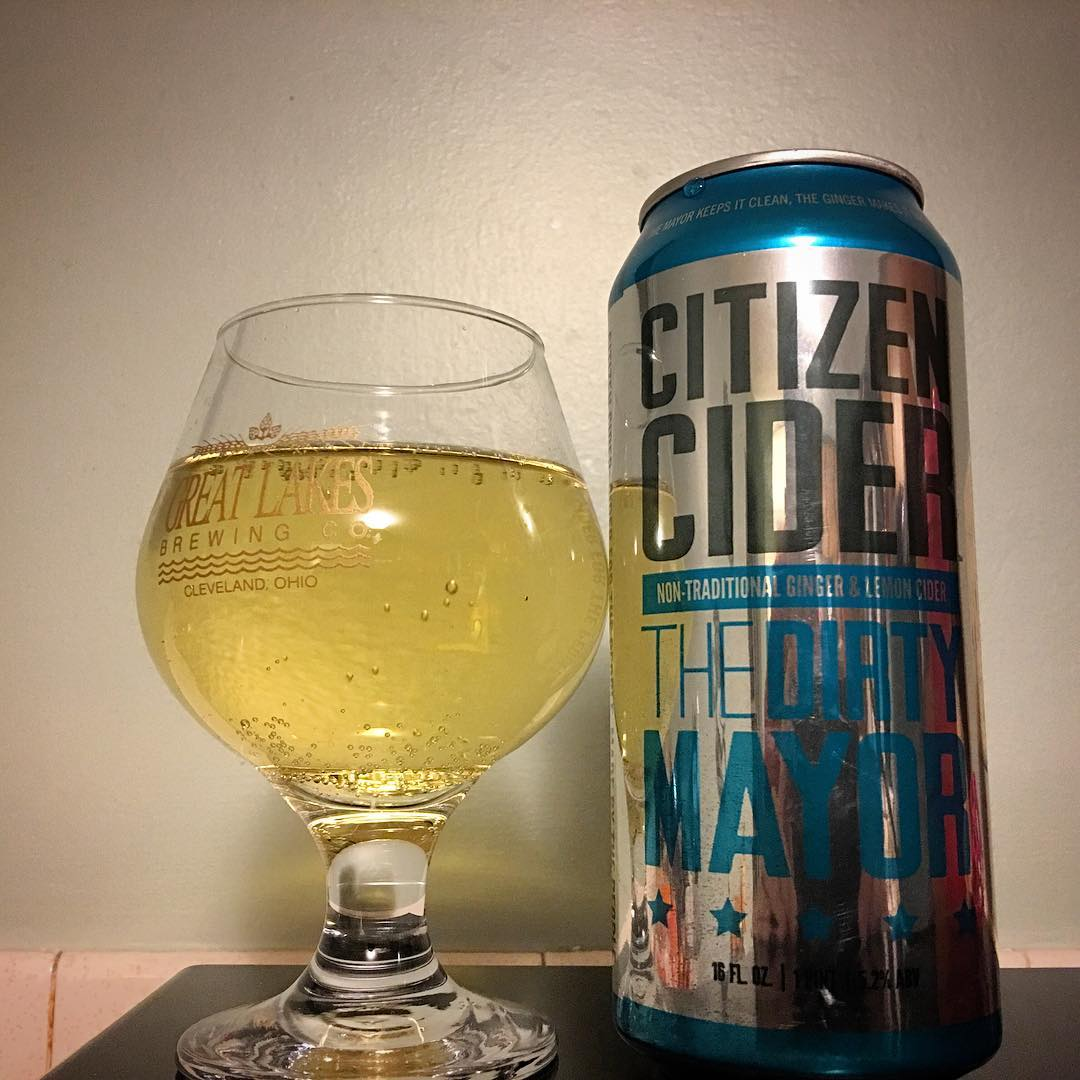 @citizencider The Dirty Mayor - lots of ginger, but a really smooth cider.