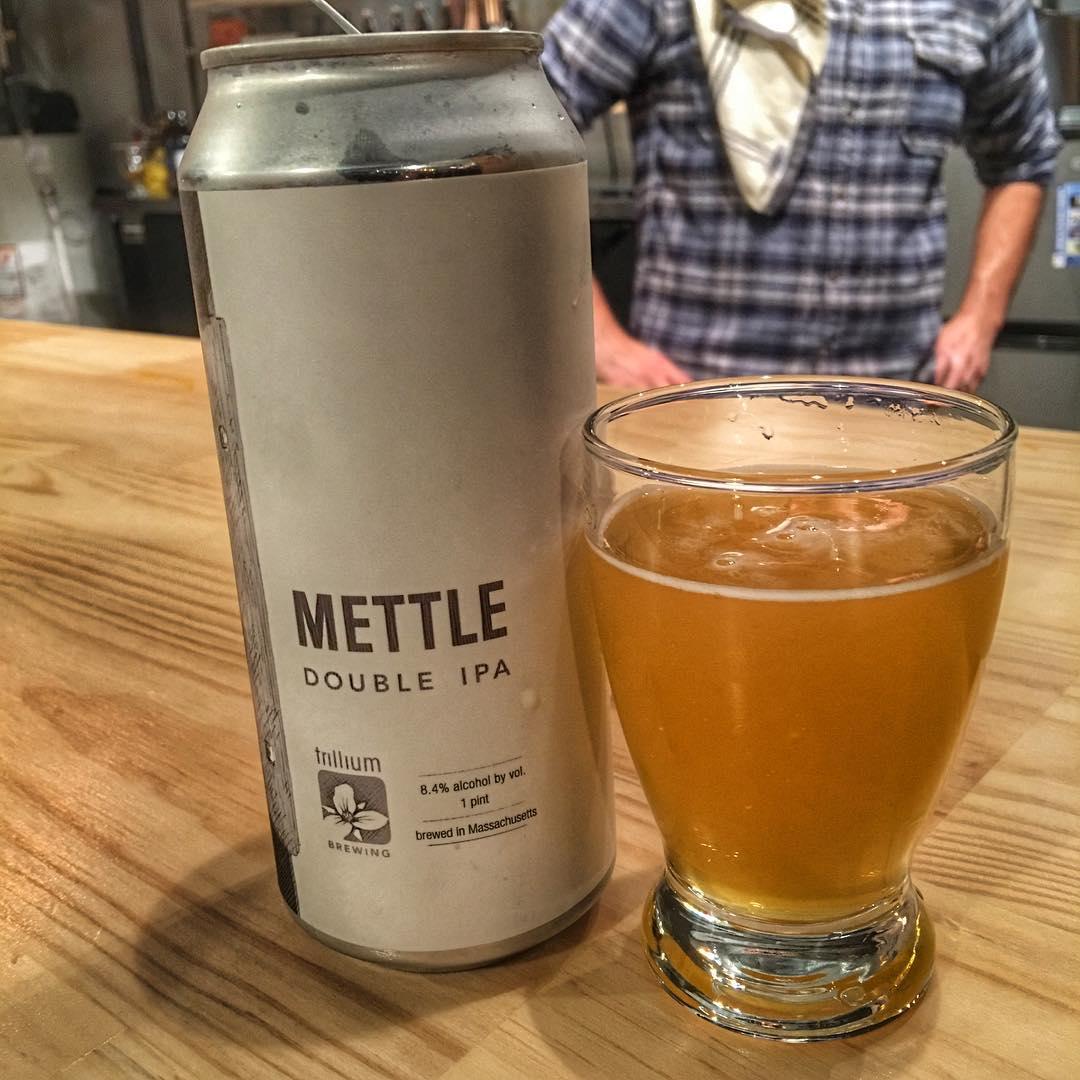@trilliumbrewing Mettle DIPA - nice flavors, pretty great tasting.