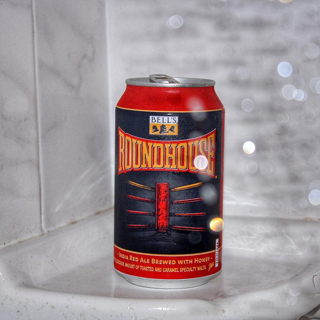 I had a pretty nice #showerbeer tonight. @bellsbrewery Roundhouse Imperial Red Ale Brewed With Honey - reminded me of a rye hopslam. Lots of flavors going on here.