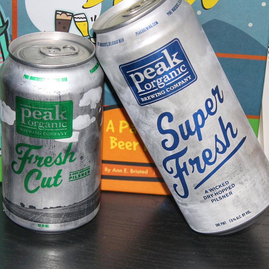 """@peakbrewing - first thing I thought when I got these two ready for this pic was """"he ain't heavy, he's my brother"""". Now I can't think of anything else. But I'm having Fresh Cut and Super Fresh tonight."""