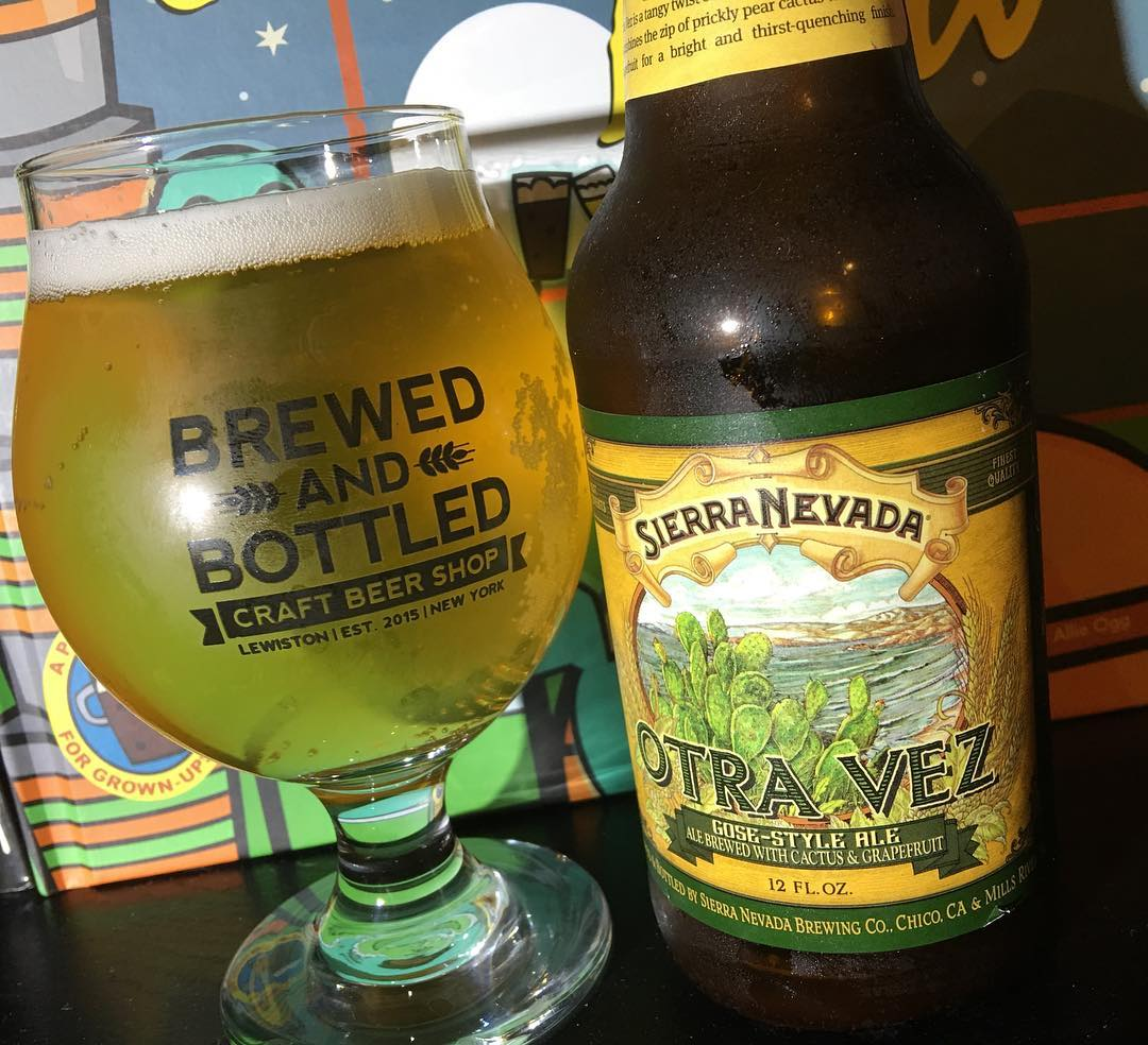 Otra Vez Gose by @sierranevada - pretty average. Not overly salty. If you were to introduce someone to the style without wanting to scare them away. This might be a good starting point.