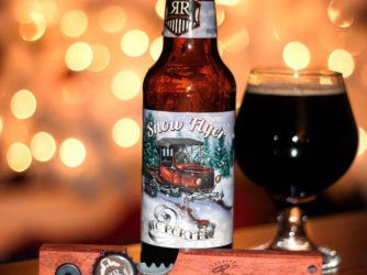 Review: Snow Flyer Hazelnut Chocolate Porter by Rusty Rail Brewing Co.