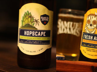 Review: Fresh As Helles & Hopscape by Samuel Adams Brewing Co (Boston Beer)