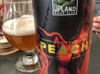 Review: Peach (Barrel Aged Fruited Ale) by Upland Sour Ales