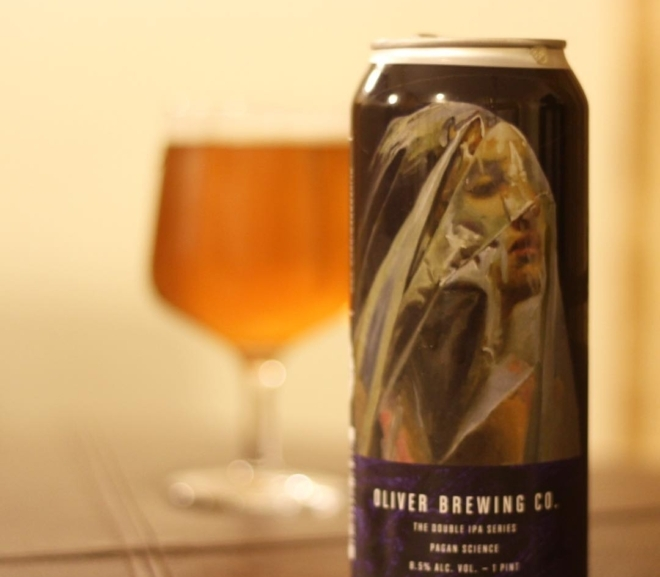 Review: Pagan Science (The Double IPA Series) by Oliver Brewing Co.