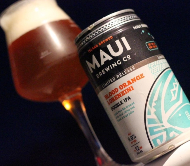 Review: Blood Orange Lorenzini DIPA by Maui Brewing Co.