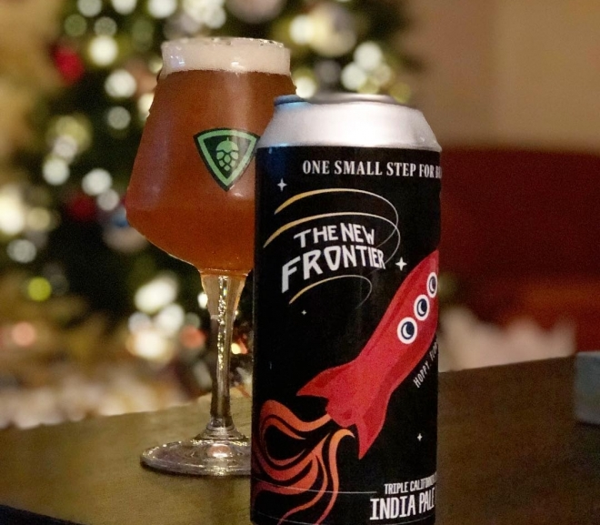 The New Frontier Triple California Style IPA by Connecticut Valley Brewing Co.