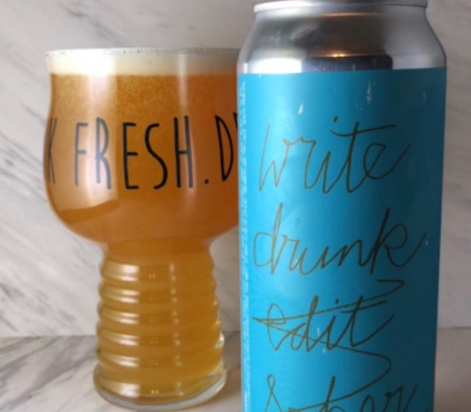 Write Drunk Edit Sober by Fat Orange Cat Brew Co.